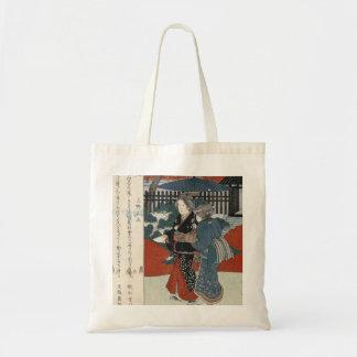 Beautiful Vintage Japanese Art Tote Budget Tote Bag
