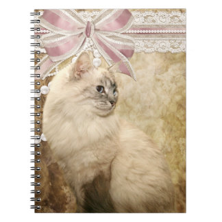 Beautiful vintage kitty cat spiral notebooks