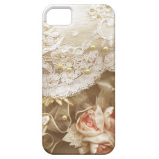 Beautiful vintage Lace & Pearls iPhone 5 5S iPhone SE/5/5s Case