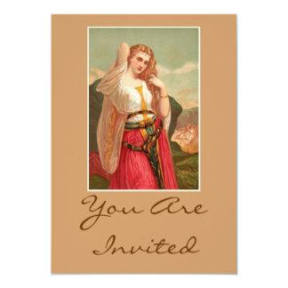 Beautiful Vintage Lady Card