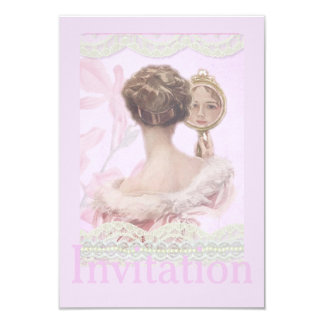 Beautiful Vintage Lady In Pink Card