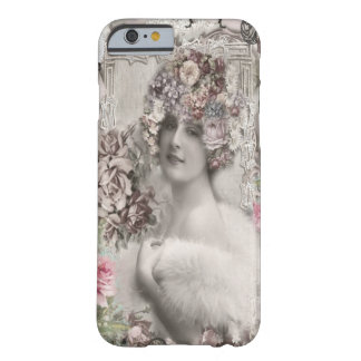 Beautiful Vintage Lady with Jewels & Flowers Barely There iPhone 6 Case