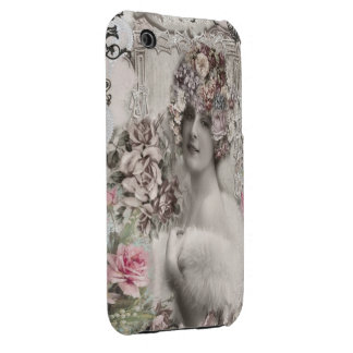 Beautiful Vintage Lady with Jewels & Flowers Case-Mate iPhone 3 Case