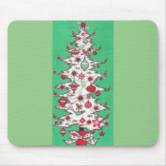Beautiful Vintage Mid Century Mod Christmas Tree Mouse Pad