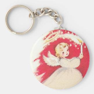 Beautiful Vintage Mid Century Mod Retro Angel Keychain
