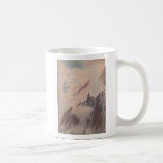 Beautiful vintage mountain view landscape coffee mug
