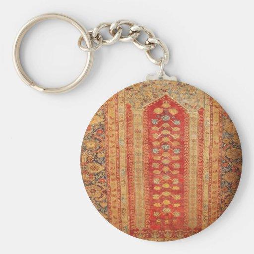 Beautiful Vintage Ottoman Era Islamic motif fabric Key Chains