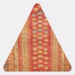 Beautiful Vintage Ottoman Era Islamic motif fabric Triangle Sticker