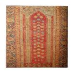 Beautiful Vintage Ottoman Era Islamic motif fabric Small Square Tile