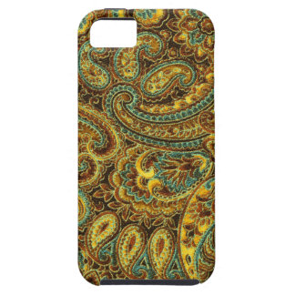 Beautiful Vintage Paisley Yellow-Brown Tones iPhone SE/5/5s Case