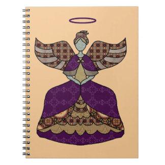 Beautiful Vintage Patchwork Angel Notebook