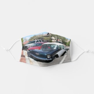 Beautiful vintage retro classic US Car Cloth Face Mask