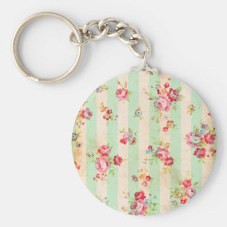 Beautiful vintage roses and other flowers key chain