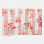 Beautiful vintage roses and other flowers kitchen towels