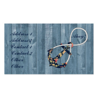 Beautiful vintage roses floral anchor infinity business cards