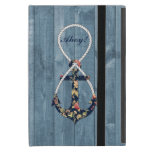 Beautiful vintage roses floral anchor infinity cases for iPad mini