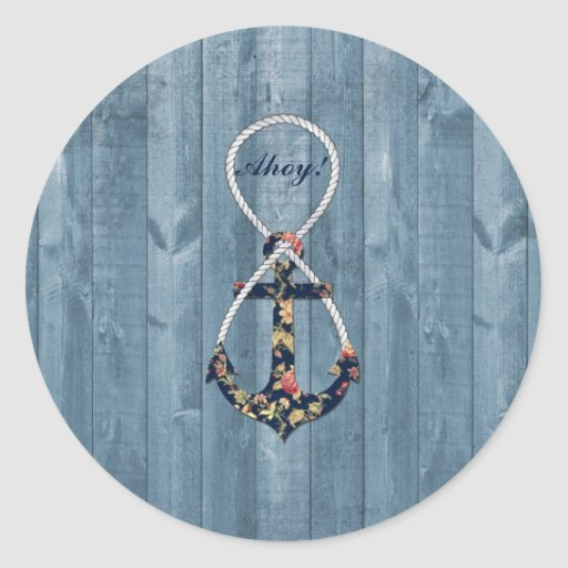 Beautiful vintage roses  floral anchor infinity stickers