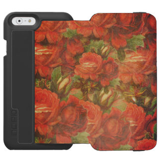 Beautiful Vintage Roses Gunge iPhone 6/6s Wallet Case