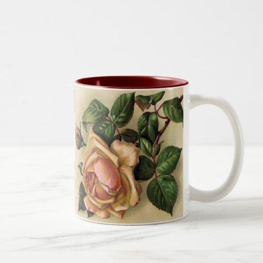 beautiful vintage roses two tone coffee mug zazzle