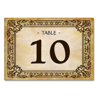 Beautiful Vintage Rustic Wedding Table Number Card Table Cards