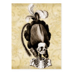 Beautiful Vintage Skeleton Postcard