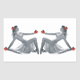 Beautiful Vintage Style Dancer Stickers