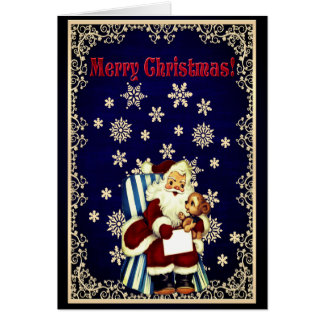 Beautiful Vintage Style Santa Christmas Card
