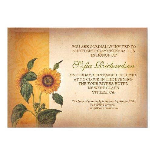 personalized sunflower birthday invitations custominvitations4u com