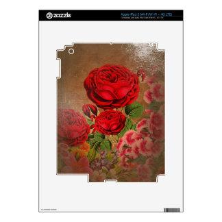 Beautiful Vintage Textured Rose iPad 3 Skins