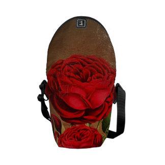 Beautiful Vintage Textured Rose Messenger Bag