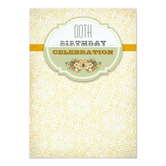 beautiful vintage typography birthday invitations