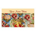 Beautiful Vintage Valentine Love Cherub Collage Business Card Templates