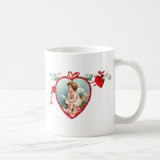 Beautiful vintage Valentine's fishing rod in A hea Coffee Mug