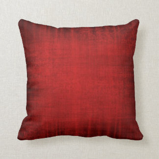Beautiful Vintage Velvet Look Cushion in Red Throw Pillow