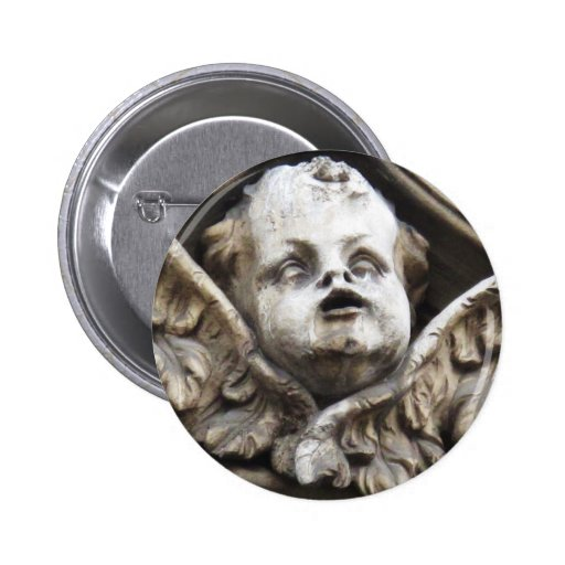 Beautiful Vintage Victorian angel statue Pinback Buttons