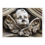Beautiful Vintage Victorian angel statue Card