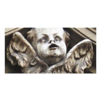 Beautiful Vintage Victorian angel statue Custom Photo Card
