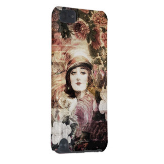 Beautiful Vintage Woman Flower Abstract iPod Touch 5G Cover