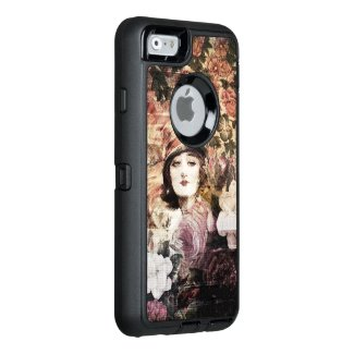 Beautiful Vintage Woman Flower Abstract OtterBox iPhone 6/6s Case
