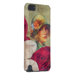 Beautiful Vintage Woman Flower Rose iPod Touch (5th Generation) Cases