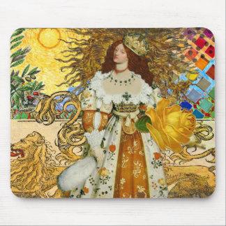 Beautiful Vintage Woman Surrealistic Leo Astrology Mouse Pad