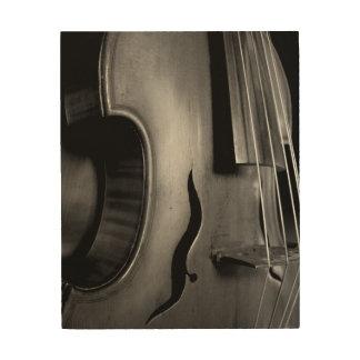 Beautiful Viola Image on Wood Wood Print