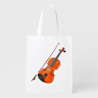 Beautiful Viola Musical Instrument Reusable Grocery Bag