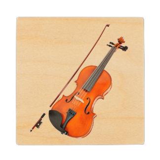 Beautiful Viola Musical Instrument Wooden Coaster