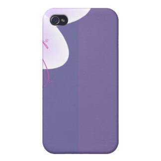 Beautiful violet blossom wedding gift iPhone 4/4S cover