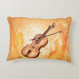 Beautiful violin accent pillow