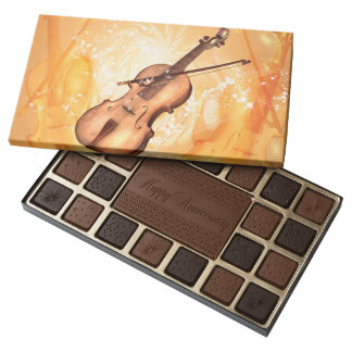 Beautiful violin assorted chocolates
