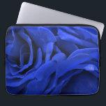 "Beautiful vivid blue velvet roses floral photo computer sleeve<br><div class=""desc"">Rose flowers. Gorgeous,  velvety petals of vivid,  bright blue roses.</div>"