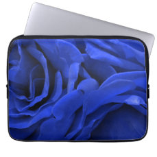 Beautiful vivid blue velvet roses floral photo computer sleeve