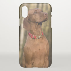 Uncommon iPhone X Clearly™ Deflector Case with Vizsla Phone Cases design